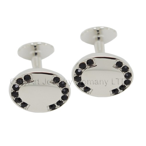 new design fashion cufflinks with black stones for men with paypal acceptable