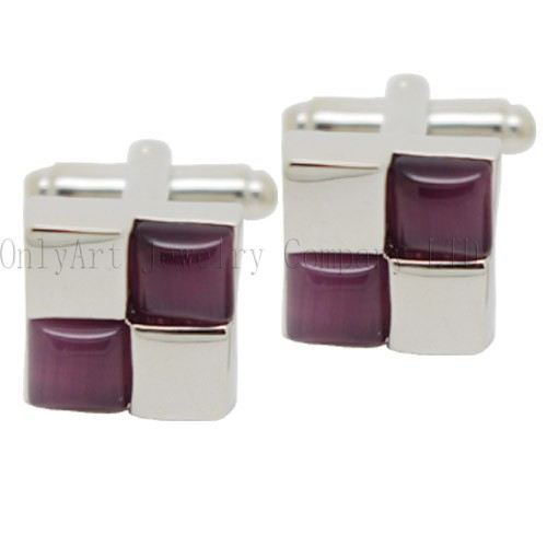 new design and deep red stone inlaid cufflinks